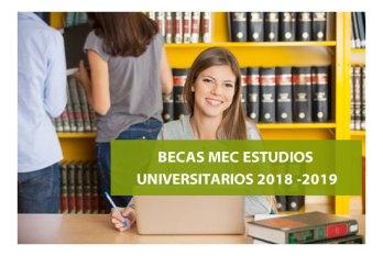 Becas MEC para estudiantes universitarios