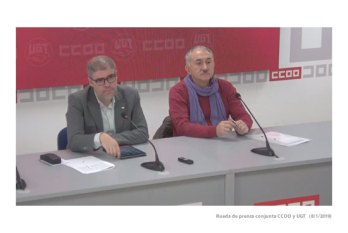 Rueda prensa conjunta ccoo ugt 8 enero 2019