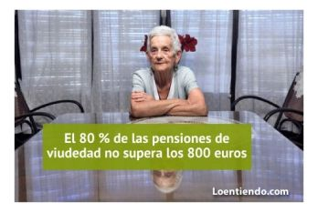 8 de cada 10 pensiones no supera los 800 euros al mes