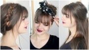 hairstyles with bangs cute &