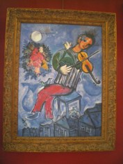 I CHAGALL LE VIOLONISTE