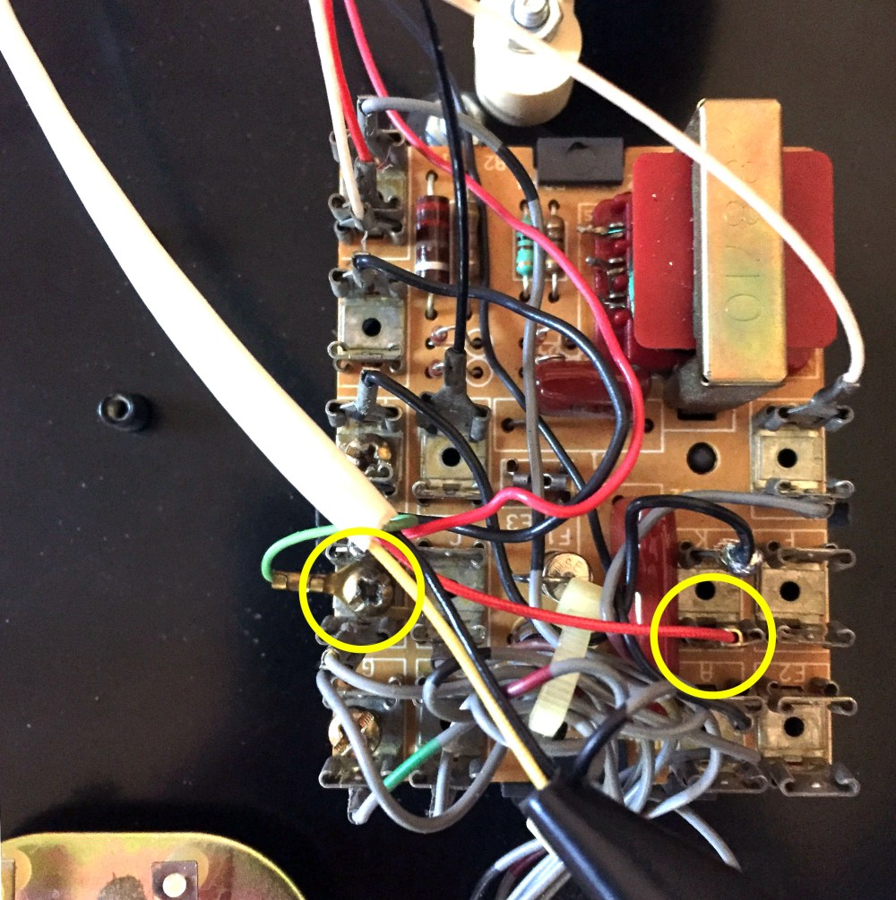 medium resolution of pictured to the right is how the connection was made the green wire goes to a block that looks like l2 and the red wire goes to the k block