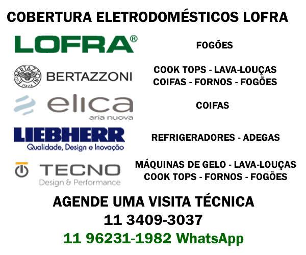 Área de Cobertura Assistência Técnica Eletrodomésticos Lofra