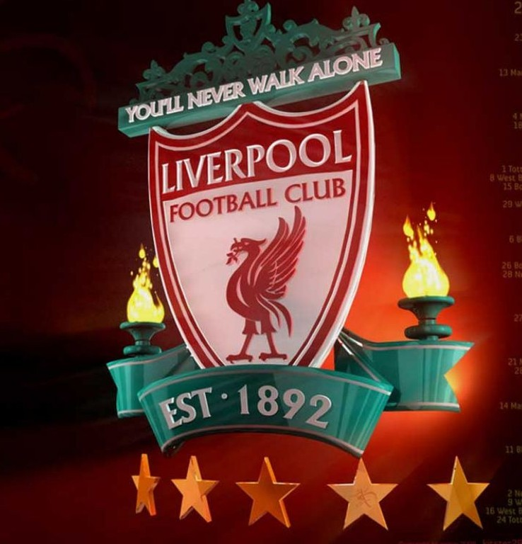 3d Christmas Wallpaper Animated Liverpool Fc Logo 3d Logo Brands For Free Hd 3d