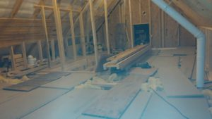after trusses removed