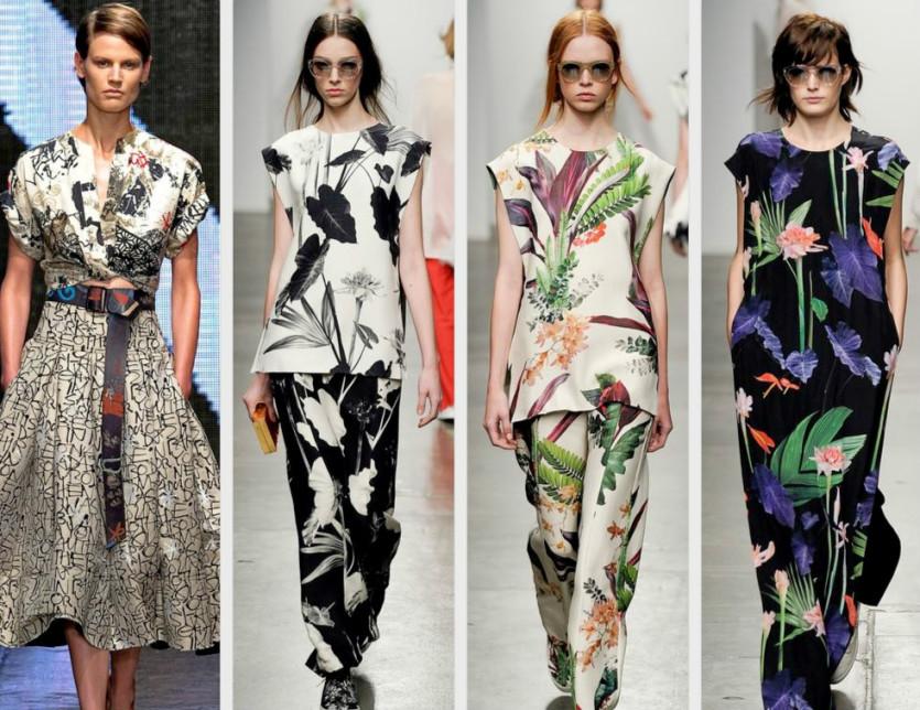 Motywy kwiatowe w trendach na 2015