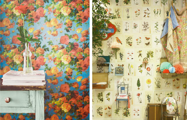Botanical wallpaper, Heimtex