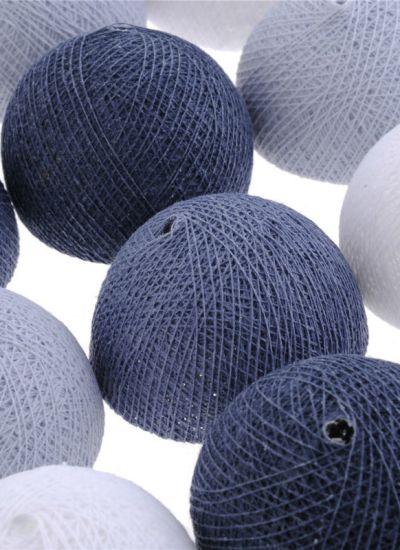 Cotton Balls lampki w odcieniach szarości