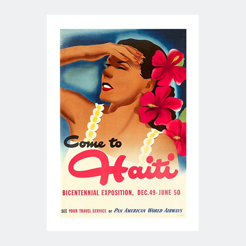 Plakat Retro Dziewczyna Z Haiti