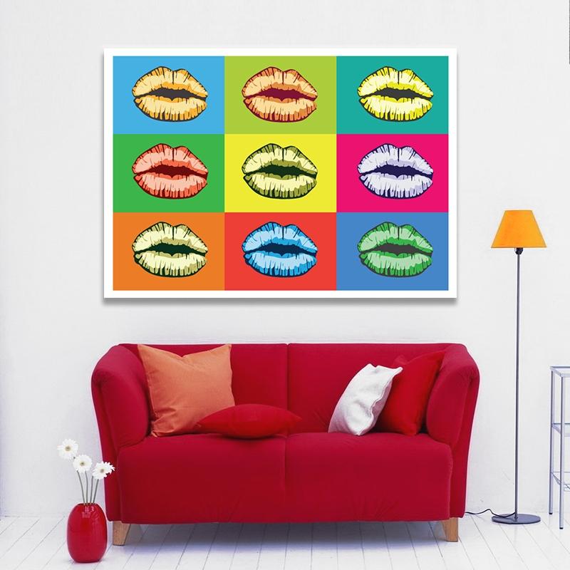 Plakat Pop Art Kiss