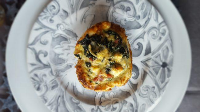 Pastelito de espinacas y queso feta