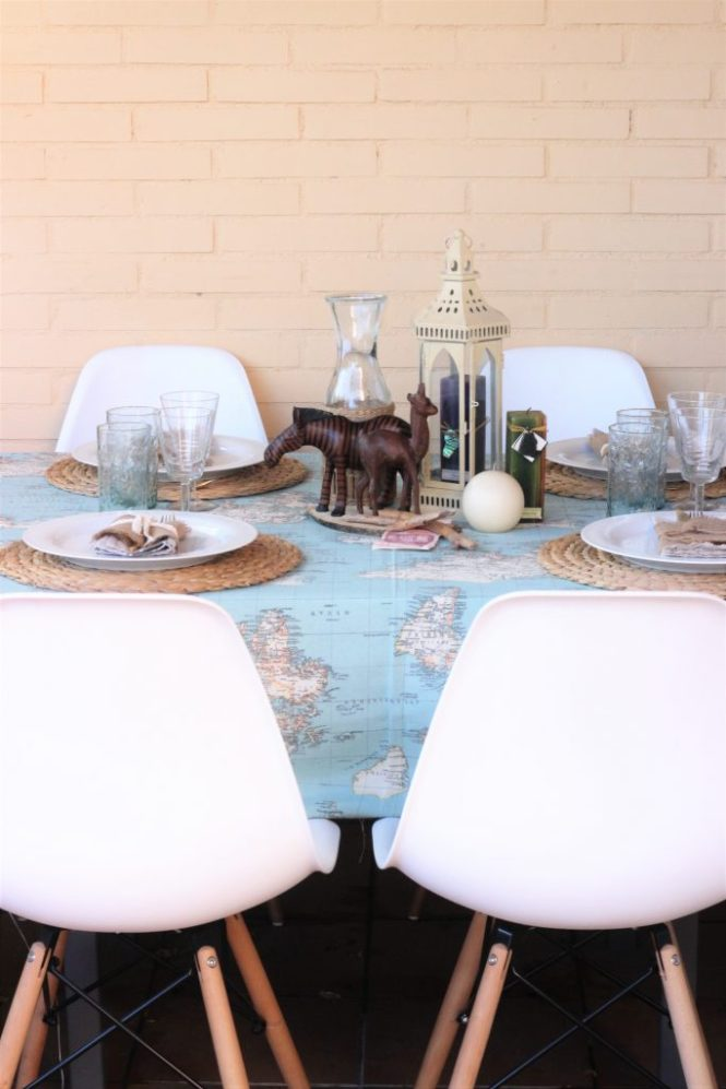 Decoración de la mesa con un toque colonial, viajero y exótico. Viaja en tu mesa