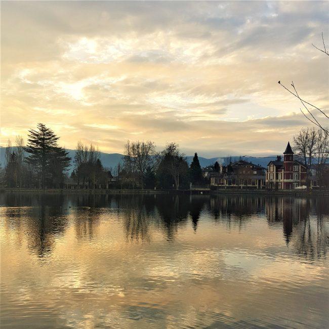 Paisaje del Lago en Puigcerdá