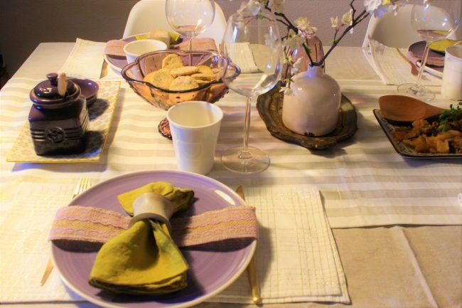 Mesa en morado Loft & Table