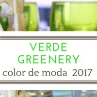 Verde Greenery, color de moda del 2017.