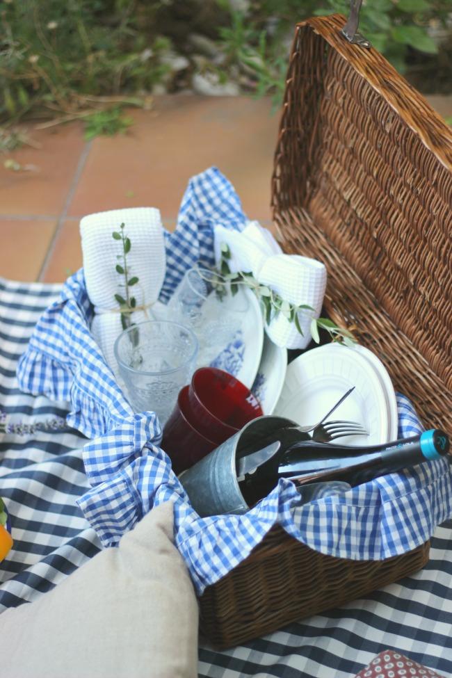 Como decorar tu cesta de picnic