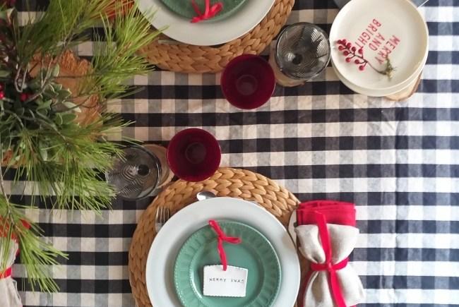 Una mesa bonita para esta Navidad