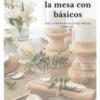 Cómo decorar la mesa con básicos