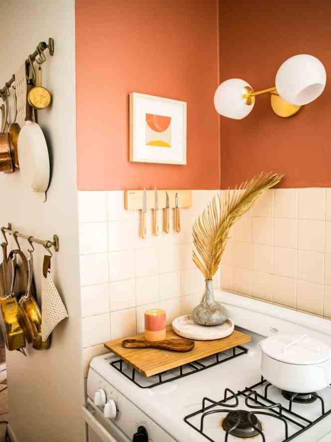 Antes y después: una cocina pequeña y colorida