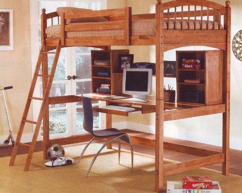 Best Deal Wood Workstation Bunkbed Bunk Bed Office