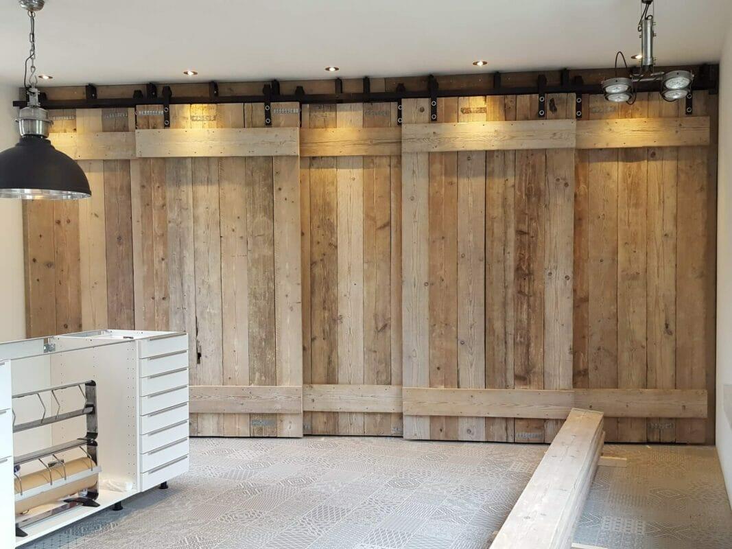 Schuifdeur Wand  Complete Set Voor Eenvoudige Montage