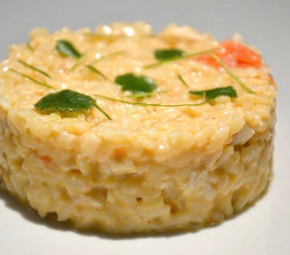 risotto au poulet, façon tom kha kai