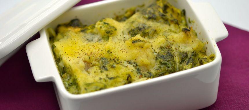 Lasagne de poisson aux épinards, légèrement épicée