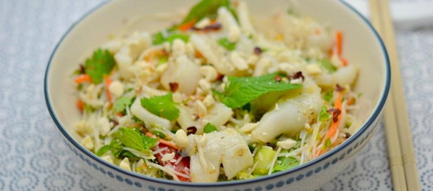 Salade de vermicelles aux calamars