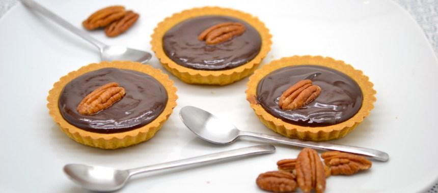 Tartelette au chocolat noir (amer) très facile!