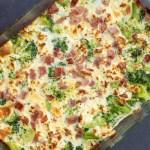 Brocoli et jambon au gratin