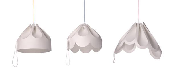 Lampy Beza z kablami w oplocie