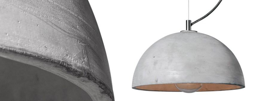 Betonowa lampa wisząca SFERA