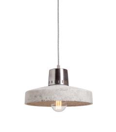 Lampa betonowa KORTA 2 - kolor naturalny - wykończenie stalowe