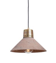 Lampa betonowa KORTA 2 - kolor czekoladowy - wykończenie mosiężne
