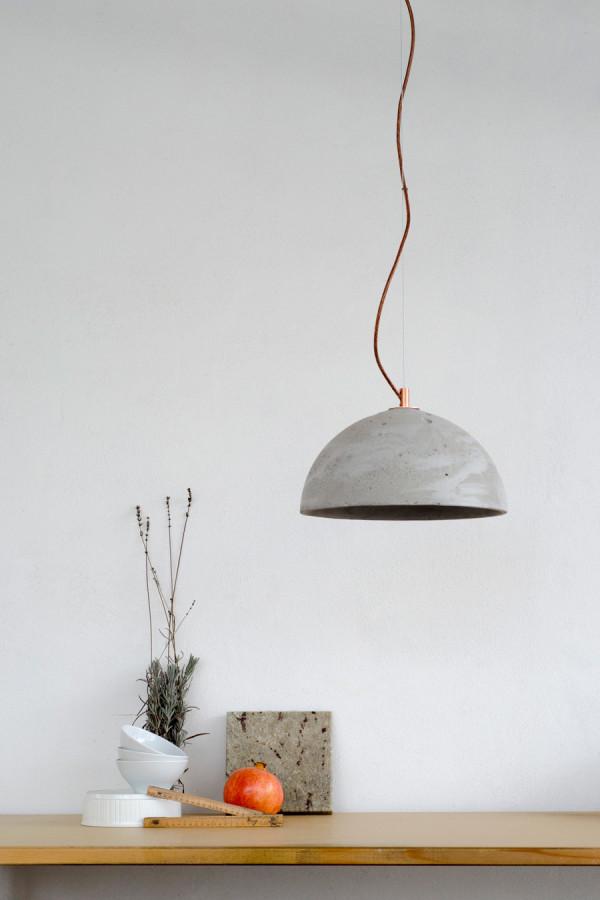 Lampa Sfera - kolor naturalny, wykończenie miedziane