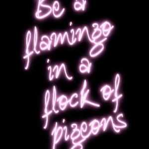 Be A Flamingo art print