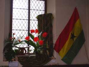 This display represents the Republic of Ghana.