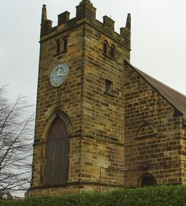 The Parish Church Clock at St Leonard's Parish Church Loftus in 2011 before restoration work began.