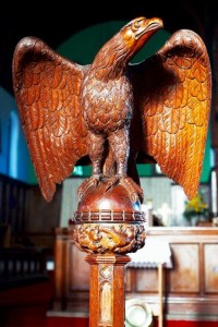 The Eagle Lectern of Saint Helen's Parish Church Carlin How with Skinningrove