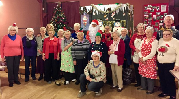 Father Christmas and his team of helpers at Loftus Town Hall