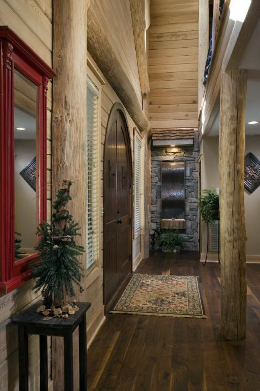 Pictures Of Rustic Columns Amp Poles Inside Log Homes