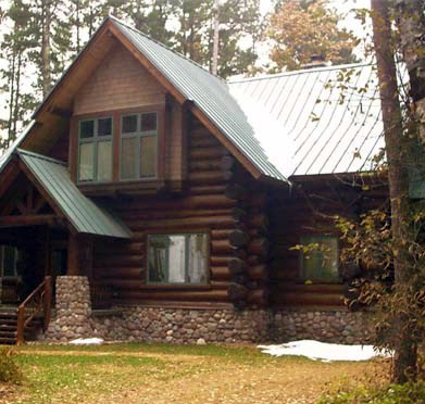 Pictures Of Stone Accents Used In Log Homes  The Log Home Guide