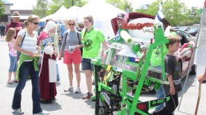 Demoing our 2013 robot at a summer festival