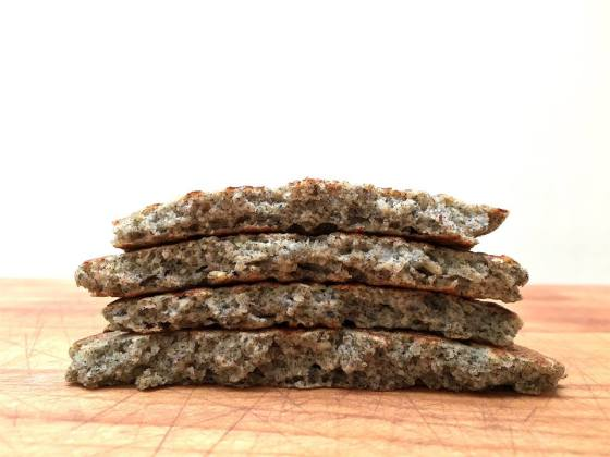 Farmers Market Scoop: Tomatillo and Cheddar on Blue Corn Buckwheat Cakes