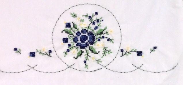 Blue Rose Bouquet Pillowcase