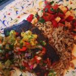 Grilled Basil Salmon with Pineapple Jalapeño Salsa