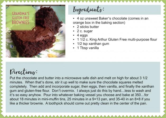 Grandma's Gluten Free Brownies