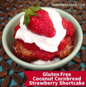 Gluten Free Coconut Cornbread Strawberry Shortcake