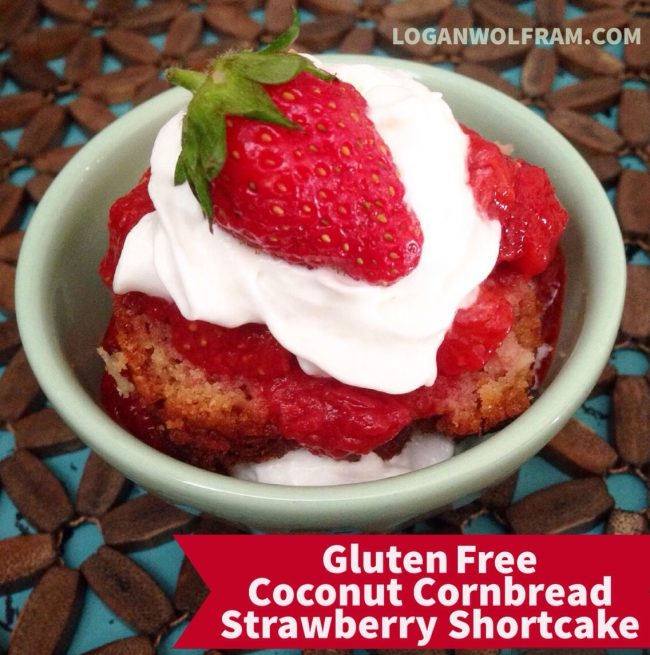 Gluten Free Coconut Cornbread Strawberry Shortcake