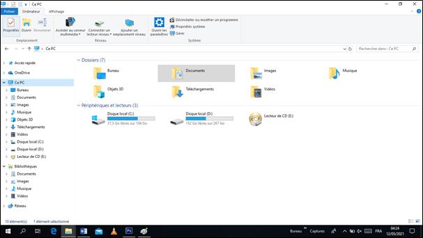 explorateur des fichiers de windows 10